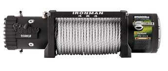 Ironman 4x4 9500lbs Monster Winch - Steel Cable
