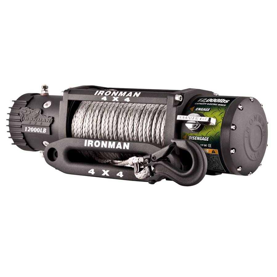 Ironman 4x4 9500lbs Monster Winch - Synthetic Rope